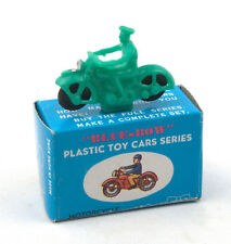 Vintage Blue-Bow (Hong Kong) Plastic Motorcycle * Dinky Toys 37b Copy *
