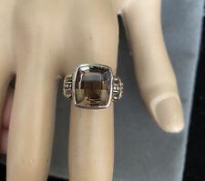 Lagos 18k Sterling Cushion Cut Ring 7 $495.00