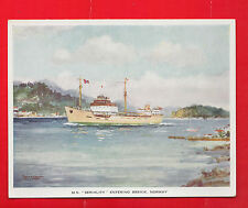 F.T. Everard, M.V. Seriality entering Brevik, Norway, shipping