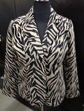 Erin London Zebra Stripe Tiger Blazer Jacket Sz M NEW WITH TAG New $56