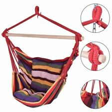 New Garden Hammock Chair Hanging Swing Seat With Cushion Outdoor Camping UK