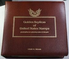 Golden Replicas & FDCs of US Stamps Postal Commem. Society '85-'86 41 Total FDCs