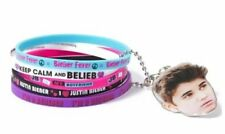 Justin Bieber Bracelet Bundle with On Chain JB Face Wristband Official New