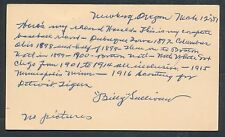 1899 BILLY SULLIVAN Sr. Vintage Baseball Signed GOVT Index Card (D. 1965) JSA!