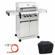 TAINO Platinum 3+1 Gasgrill Edelstahl BBQ Set BBQ Gusseisen Grill Seitenkocher