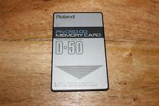 Roland d-50 d-550 ROM CARD pn-d50-00 Original sounds/Factory sons
