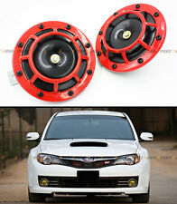 FOR SUBARU IMPREZA WRX STi GC8 GF GDB GE RED 12V GRILL MOUNT COMPACT LOUD HORN