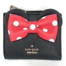 Kate Spade x  Disney Minnie Mouse Adalyn Black  Small Wallet