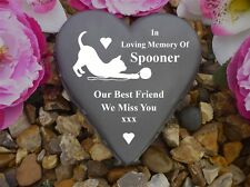 Cat Memorial - Floral Heart - Weatherproof & Personalised - Playing with Wool