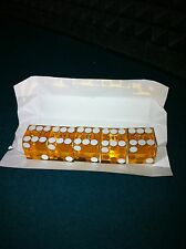 Casino Craps Polished Amber Stick 3/4 Precision Dice A Grade Set Of 5 New Packed