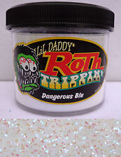 Lil Daddy Roth Metal Flake Dangerous Blu trippin 2oz Jar Hot Rod Custom