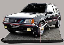AUTOMOBILE MINIATURE, PEUGEOT 205 GTI -01, Peugeot205 GTI noire en horloge