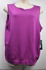 """Lauren Ralph Lauren Woman """"Violet Purple Sleeveless Sweater Size 3X MSRP $85"""