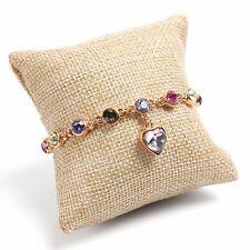 Linen Pillow Cushion Bracelet Bangle Wrist Watch Display Holder Jewelry Showcase