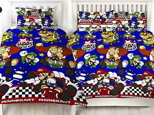 Official Nintendo Mario Racer Kart Single/Double Duvet Cover Reversible Bedding