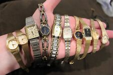 10 Nice Womens Vintage Wristwatches Watches Diamonds Citizen Bulova Seiko Lot #4