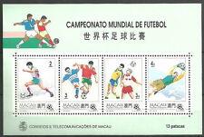 Macau - Fußball-Weltmeisterschaft USA Block 27 postfrisch 1994 Mi. 759-762