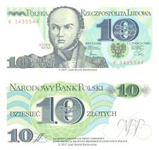 Poland 10 Zlotych 1982 P-148 Banknotes UNC