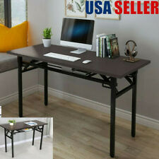 "47"" Computer Desk Foldable Writing Table Working Laptop Tray Office Home Bedroom"
