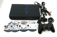 Sony Playstation 2 PS2 Fat Bundle Lot + 4 FREE GAMES + Dualshock 2 Controller!!
