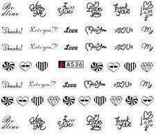 Accessoire ongles nail art , Stickers décalcomanie, Coeurs, love Saint Valentin