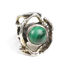 Monika & Burkhard OLY: Vintage Silver Ring with Malchit (Malachite Silver) 835