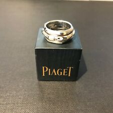 Piaget 18ct White Gold Hexagonal Ring with PIAGET engraved