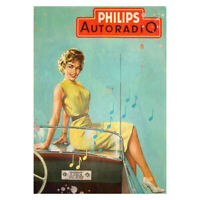 Philips Radio Metal Wall Plaque Vintage Advertising Sign Garage Shed Classic