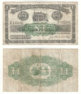 IRELAND - Provincial Bank of Ireland £1 Banknote from 1942 - F