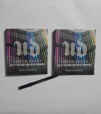 Lot of 3 URBAN DECAY 24/7 Glide-On Eye Pencil PERVERSION Black .03 oz Each NEW