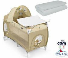 Lettino CAM Daily Plus Orso da viaggio beige + Materassino Willy & Co Campeggio
