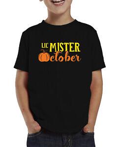 Lil Mister October Halloween Pumpkin Patch Harvest Boy Toddler T-Shirt