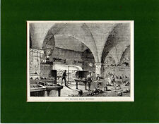 ANTIQUE WOODCUT - THE MANSION HOUSE KITCHEN - CASSELL'S OLD & NEW LONDON(1880)