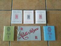 Rolls-Royce Owners Club Service Directories & Register 1960s era Rolls-Royce