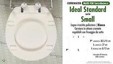 Ideal Standard T623901 Set Gommini per Sedile Serie Small Bianchi Cromo