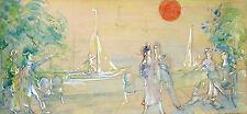Gustav Adolf Schreiber 1889-1958 Brema/bozza per un muro immagine acquerello 1953