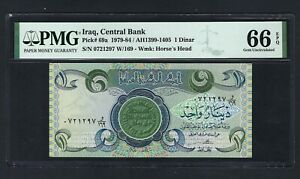 Iraq- One Dinar (1980/AH1400) P69a  Uncirculated Graded 66