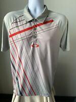 Oakley Men's Shirt Polo Gray Geometric Size Large (L)