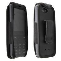 caseroxx Leather-Case with belt clip for Orange Hapi 11 in black made of genuine