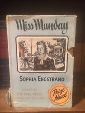 MISS MUNDAY by Sophia Engstrand 1940 2nd Printing HC