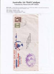 1955 Holland to Aus to Holland Canadian Pacific Inaugural First Flight Cover