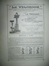 PUBLICITE DE PRESSE VELOROOM VELOCIPEDE DE CHAMBRE VELO HOME TRAINER AD 1902