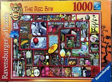 "RARE Ravensburger ""The Red Box"" 1000 Piece Jigsaw Puzzle - Oriental Bizarre"