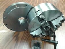"""10"""" 4-JAW SELF-CENTERING CHUCK top & bottom reversible jaws with L00 adapter-new"""