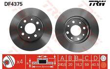 TRW Juego de 2 discos freno Antes 240mm ventilado FORD KA FIAT PANDA 500 DF4375