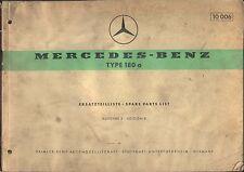 Mercedes Benz 180 a Ponton 1959 Original Factory Spare Parts List German English