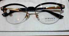 VERSACE Designer Glasses Frames Eyewear Black / Half Rim NEW