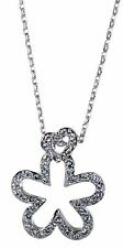 Swarovski Elements Crystal Star Heart Pendant Necklace Rhodium Plated New 7114z
