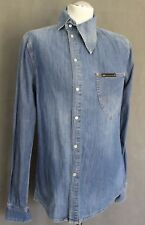 VIVIENNE WESTWOOD ANGLOMANIA Mens OSSIE CLARK Blue Denim SHIRT - Size M - Medium