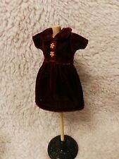 Blythe Doll Outfit Clothing velvet Red Dress